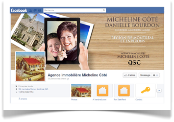 médias sociaux immobilier Facebook